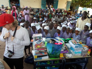 School stationary donated by Chiltern Primary School.